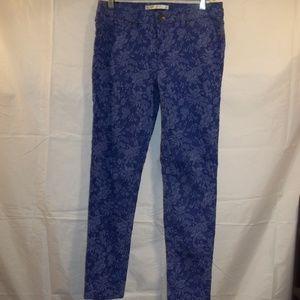 LC Lauren Conrad Jeans Skinny Blue Floral Size 8
